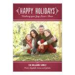 Happy Holidays Photo Card   Joy Love Peace Wishes