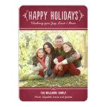 Happy Holidays Photo Card | Joy Love Peace Wishes Custom Invite