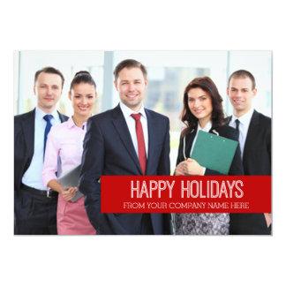Happy Holidays Photo Card Modern Business 13 Cm X 18 Cm Invitation Card