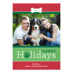 Happy Holidays Photo Card | Puppy Dog Theme Personalized Invites