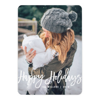 Happy Holidays Photo Card, vertical Card