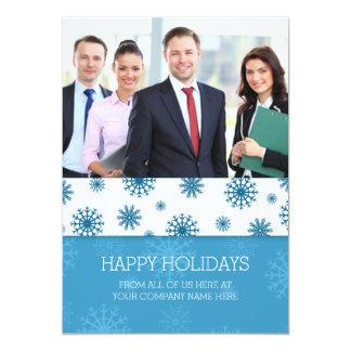 Happy Holidays Photo Cards Blue Business 13 Cm X 18 Cm Invitation Card