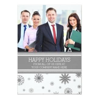 Happy Holidays Photo Cards Grey Business 13 Cm X 18 Cm Invitation Card