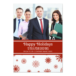 Happy Holidays Photo Cards Red Business 13 Cm X 18 Cm Invitation Card
