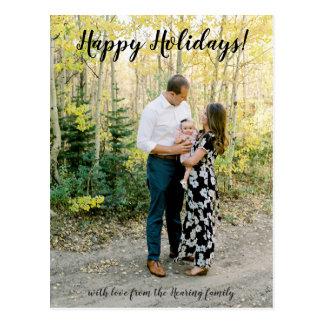 Happy Holidays Photo Post Card
