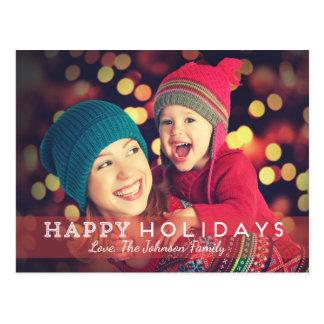 Happy Holidays Photo Postcards