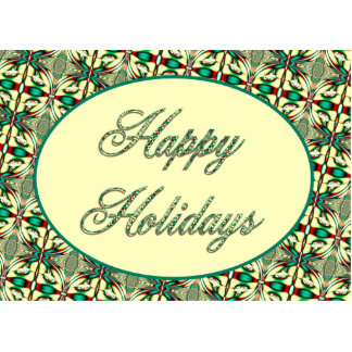 Happy Holidays Photo Sculpture Magnet