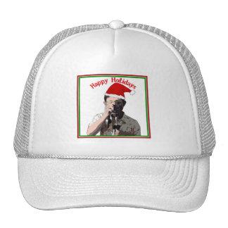 Happy Holidays Photographer With Santa Hat Hat