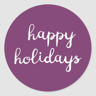 Happy Holidays Purple Sticker