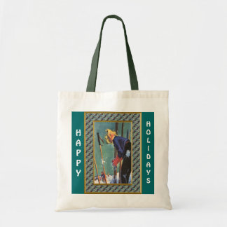Happy Holidays  Ready to ski Tote Bags