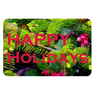 Happy Holidays Rectangular Photo Magnet