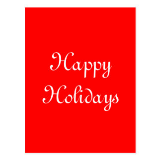 Happy Holidays. Red and White. Festive. Postcard
