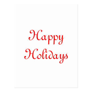 Happy Holidays. Red and White. Festive. Postcards