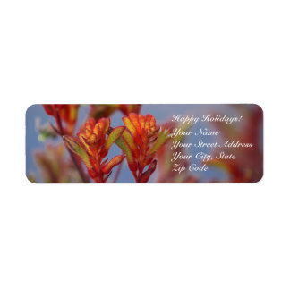 Happy Holidays Red Green Desert Plant Template