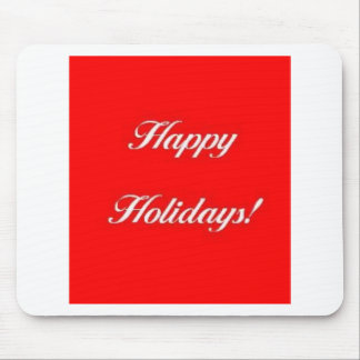 Happy_Holidays_Red Mouse Pad