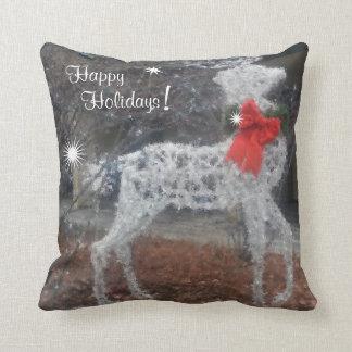 Happy Holidays Reindeer Cushion