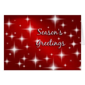Happy Holidays - Retro Stars Christmas Card