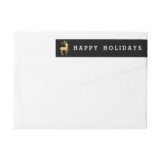 Happy Holidays Return Address Label   Christmas