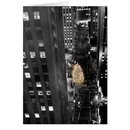 Happy Holidays - Rockefeller Xmas Tree Card