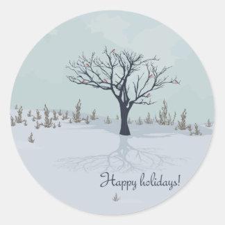 Happy holidays! Round sticker