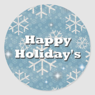 Happy Holiday's Round Sticker