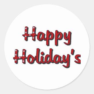 Happy Holiday's Round Sticker