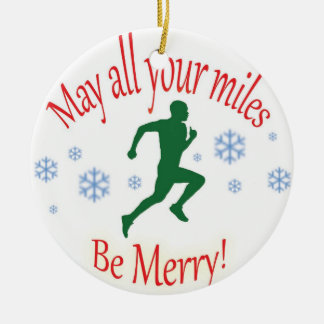 Happy Holidays Runners! Christmas Ornament