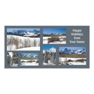 Happy Holidays San Juan Mts Winter Template Card Picture Card