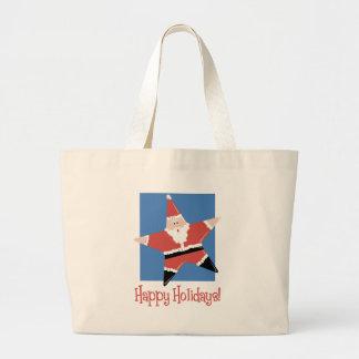 Happy Holidays Santa Star Tees and Gifts Bags