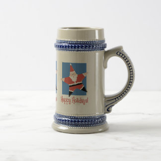 Happy Holidays Santa Star Tees and Gifts Beer Steins