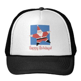 Happy Holidays Santa Star Tees and Gifts Hats