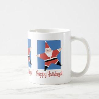 Happy Holidays Santa Star Tees and Gifts Mug
