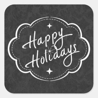 Happy Holidays Season Square Stickers