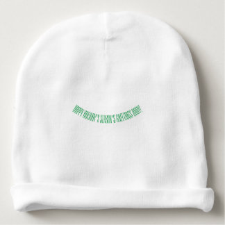 happy holiday's season's greetings baby beanie hat