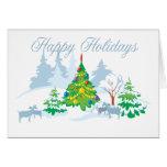 Happy Holidays Serene Goats Card