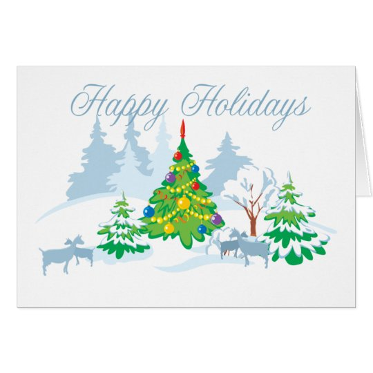 Happy Holidays Serene Goats Card