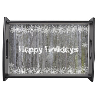 Happy Holidays Serving Tray