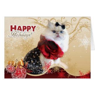 Happy Holidays - Shopaholics Greeting Card