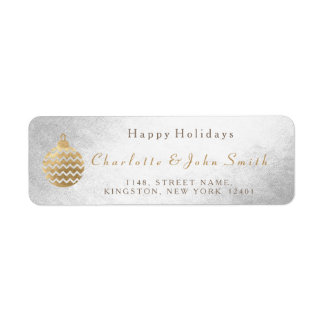 Happy Holidays Silver Golden Bauble Christmas Tree