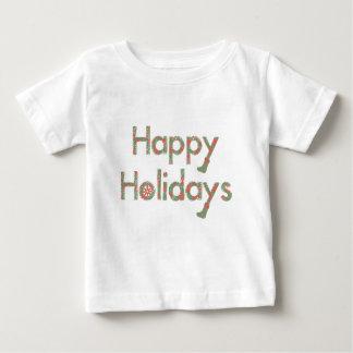 Happy Holidays Sketchy Text Tee Shirt