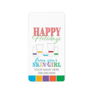Happy Holidays / Skin Girl - Sticker Label
