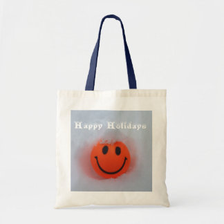 Happy Holidays Smiley Tote Bag