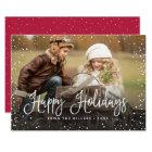 Happy Holidays Snow Card