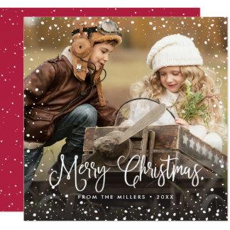 Happy Holidays Snow Christmas Card