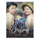 Happy Holidays Snow Christmas Photo Postcard