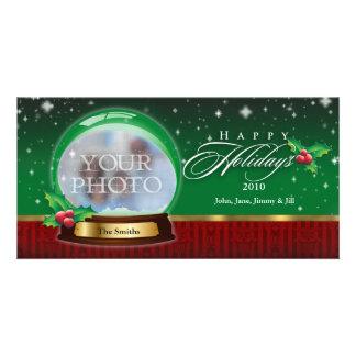 Happy Holidays Snow Globe Customizable Custom Photo Card