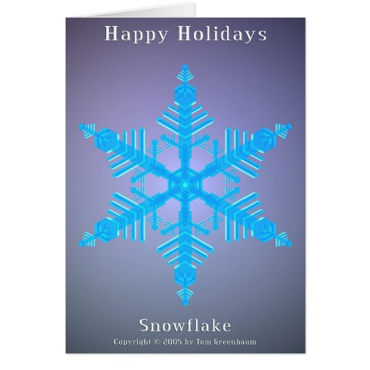 Happy Holidays Snowflake 01 Card