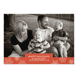 Happy Holidays snowflake card | Flat | 5x7