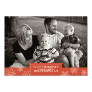 Happy Holidays snowflake card | Flat | 5x7 13 Cm X 18 Cm Invitation Card