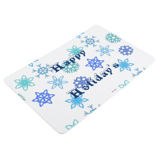 Happy Holiday's Snowflake Patter Floor Mat